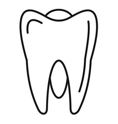 White tooth icon outline style vector