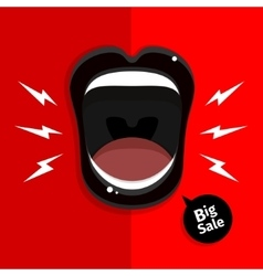 Womans open mouth vector