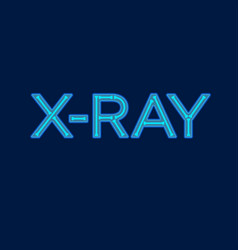 X ray logo transparent letters bone comic vector