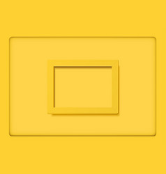 Yellow frames on yellow background vector