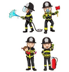 A simple sketch of firemen vector image