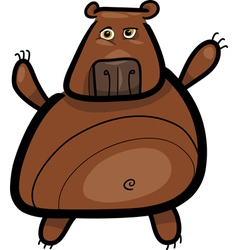 cartoon of grizzly bear vector image vector image
