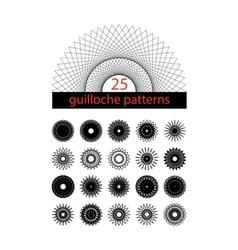 Guilloche symbols set spirograph isolated vector