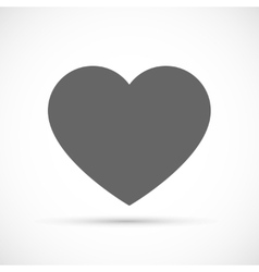 Heart icon flat vector image vector image
