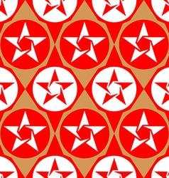 Modern seamless diamond pattern with stars vector image vector image