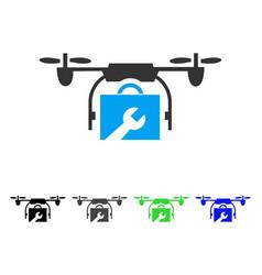 service drone flat icon vector image vector image