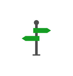 signpost solid icon navigation road sign vector image
