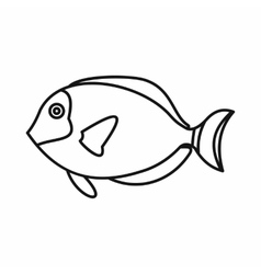 Surgeon fish icon outline style vector image