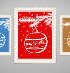 Vintage post stamp vector image vector image