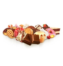 Chocolate confectionery vector image vector image