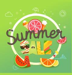 summer sale season sale concept vector image