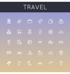 Travel Line Icons vector image vector image