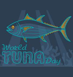 banner world tuna day vector image vector image