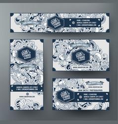 corporate identity templates set design vector image