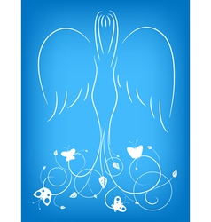 ornamental angel vector image vector image