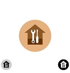 House service logo vector image vector image