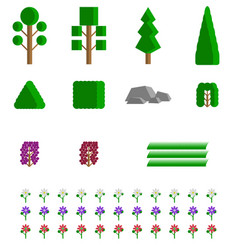 image of abstract elements of the park zone - vector image
