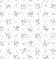 Little purple roses seamless pattern vector image