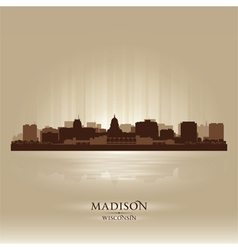 Madison Wisconsin skyline city silhouette vector image