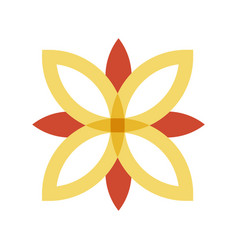 red and gold flower logo vector image vector image