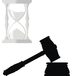 symbols of law vector image vector image