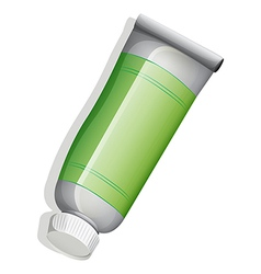 A green medicinal tube vector