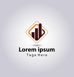 Accounting and financial advisor logos design temp vector