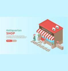 antiquarian shop horizontal vector image