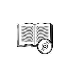 Audiobook hand drawn sketch icon vector