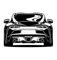 Back view car vector