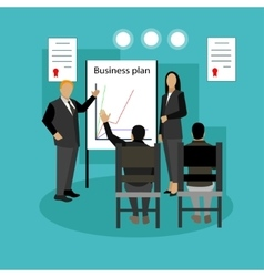 Banner concept with business presentations vector