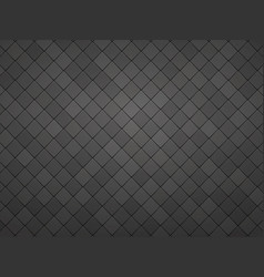 black geometric tile mosaic textured background vector image