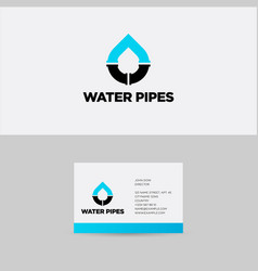 Blue pipes logo and branding identity vector