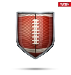 Bright shield in the american football ball inside vector image