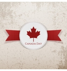 Canada Day greeting red Emblem vector