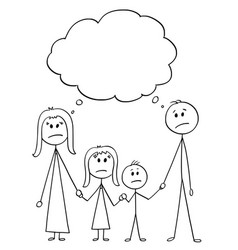 cartoon of unhappy family couple of man and woman vector image