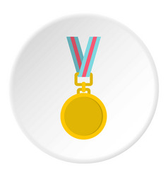 Cat medal icon circle vector