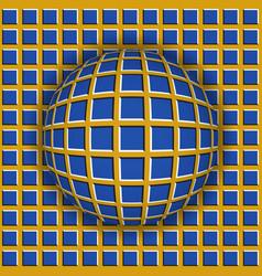 checkered ball rolling along checkered surface vector image