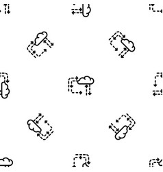 Cloud direction pattern seamless vector