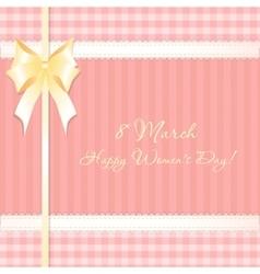 congratulations card 8 march vector image