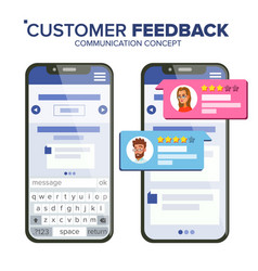 customer feedback rating smartphone vector image
