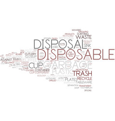 Disposal word cloud concept vector