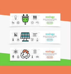 ecology horizontal banners vector image