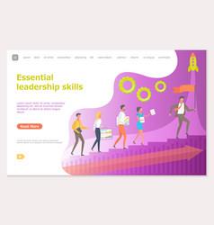 essential leadership skills leader with workers vector image