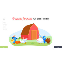 farm agriculture farming landing page template vector image