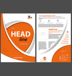 Flyer concept with orange curved shapes vector