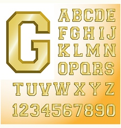 font 4 vector image