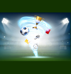 Football world cup and soccer ball vector
