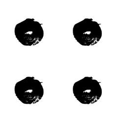 hand drawn brush ink grunge black and white vector image