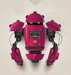 Hi Tech Futuristic Robot 02 vector